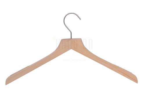 Wooden hanger for tops with nature finish, 44 cm, style 212-112-998