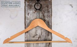 Hotel hanger with anti thief hook and nature colour with laquer, 44 cm, 414.150.998