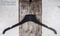 Plastic hanger for tops with black mat finish, 42 cm, style 1.4212.00