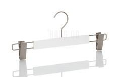 Plastic hanger with clips, white white mat finish, 36 cm, style 2.3612.80