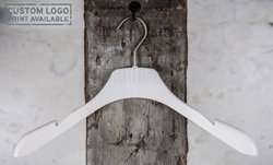 Plastic hanger with widen arms, white mat finish, 42 cm, style 3.4230.80