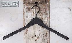 Wooden hanger for coats with soft touch finish, 44 cm, style 212-155-00