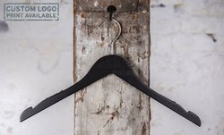 Wooden hanger for tops, black mat finish, 42 cm, style 1412-112-00