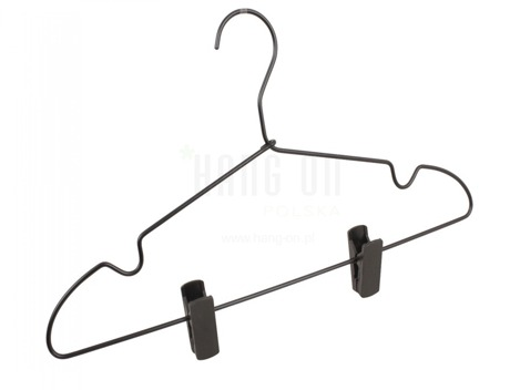 Aluminum hanger with clips bar, black mat finish, 42 cm, style 5103-100-00
