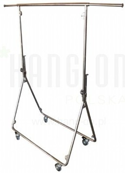 Metal fashion trolley in chrome finish, style 17000