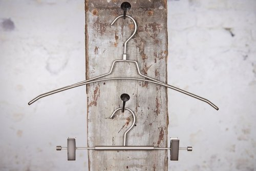 Metal hanger with clips, satin finish, 30 cm, style 4710-700-999