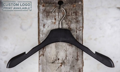 Plastic hanger for coats with black mat finish, 42 cm, style 3.4230.00