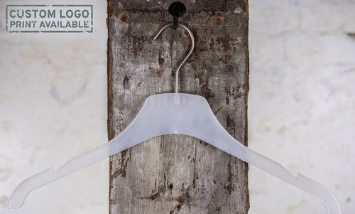 Plastic hanger for tops with frosted finish, 42 cm, style 1.4212.77