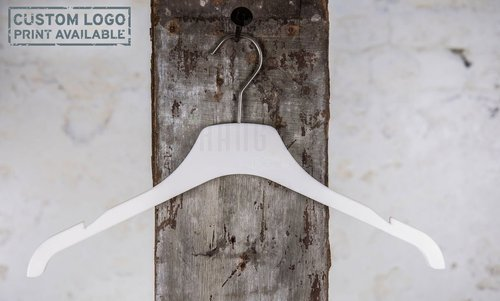 Plastic hanger for tops with white mat finish, 42 cm, style 1.4212.80