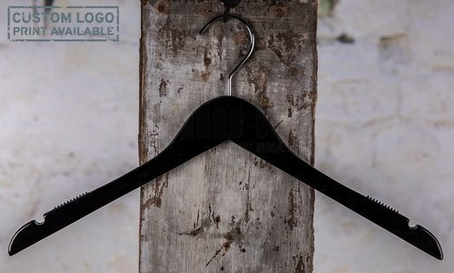 Wooden hanger for tops, black shiny finish, 44 cm, style  212-112-00
