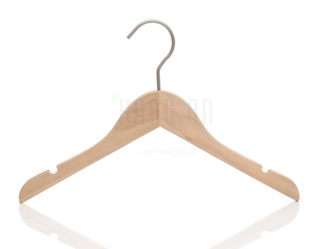 Wooden hanger for tops with nature finish, 32 cm, style 1212-106-998